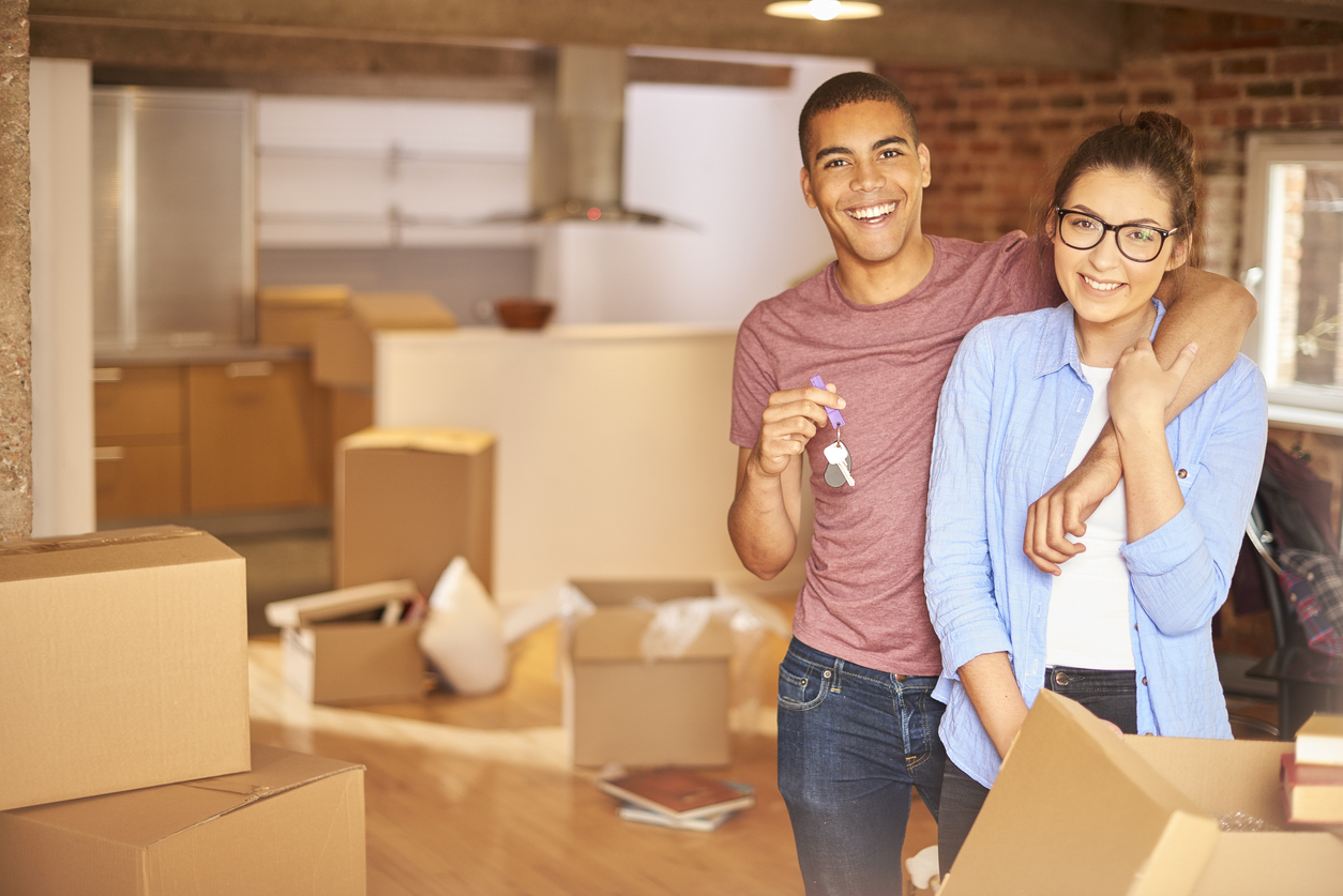 happily moving in after buying a home in a buyer's market